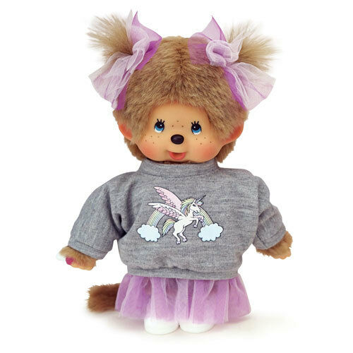 Monchhichi Doll Girl Unicorn Big Sweatshirt Yume Cute Japan