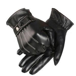Women's Accessories Black Men Women Winter Warm PU Touch Screen Gloves Cashmere Full Finger Mittens