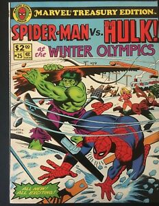 MARVEL-TREASURY-EDITION-VOL-1-NO-25-SPIDERMAN-VS-HULK-AT-OLYMPICS-1980-RARE