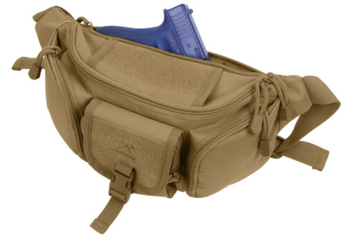 Tactical Concealed Carry Fanny Waist Pack CCW Bag Coyote Brown Rothco 4956