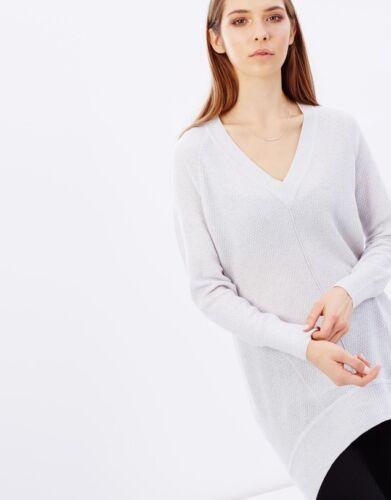 Top To Oversized Longline Jumper Dress Millen Wool 14 Knit 8 Sweater Grey Karen OkwP0n