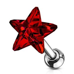 """1 Piercing De Tragus/cartilage """"etoile""""cristal En Acier Chirurgical 316l Do9h7s3l-08010816-187960518"""
