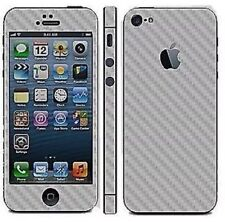 Silver Carbon Fibre Full Body Decal Skin Protector Sticker For Apple iPhone 5 5S