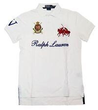 Polo Ralph Lauren Mens Custom Fit Big Pony Match Mesh Shirt White Red Navy Small
