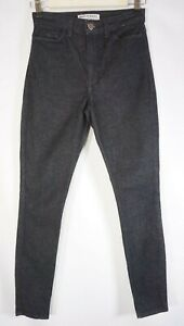 American-Apparel-High-Waisted-Stretch-Skinny-Jeans-Womens-Size-25-black-antique