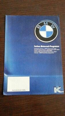 Delizioso Bmw Cartella Colori Moto Serie K 1983 Depliant Originale Epoca Brochure Stile (In) Alla Moda;