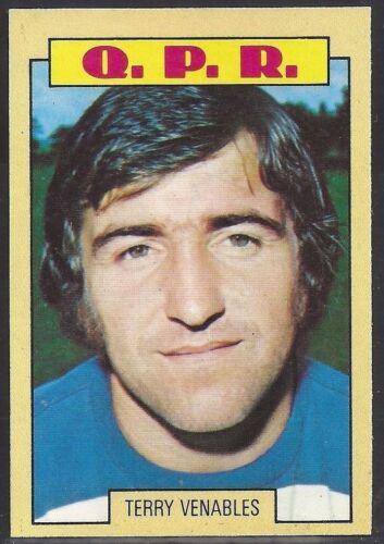 TERRY VENABLES QPR Q.P.R A/&BC-FOOTBALL 1973 BLUE BACK-#121