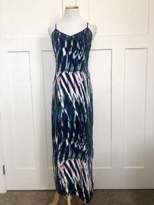 Sanctuary-Womens-Dress-Size-Small-Maxi-Watercolor-Print-Spaghetti-Strap-NEW