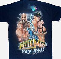 Wwe Wrestlemania Ny / Nj T-shirt Child 4 5 8 10 12 14 16 John Cena The Rock