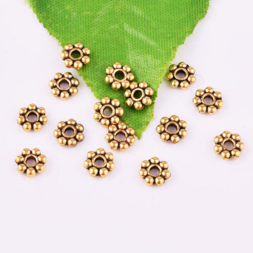 Wholesale Antique Gold Snowflake Loose Spacer Beads Jewelry Craft Findings 6mm