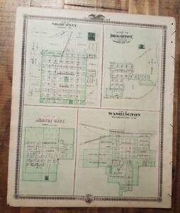Antique Map Plan Of Dewitt Tipton West Branch Iowa Andreas Atlas