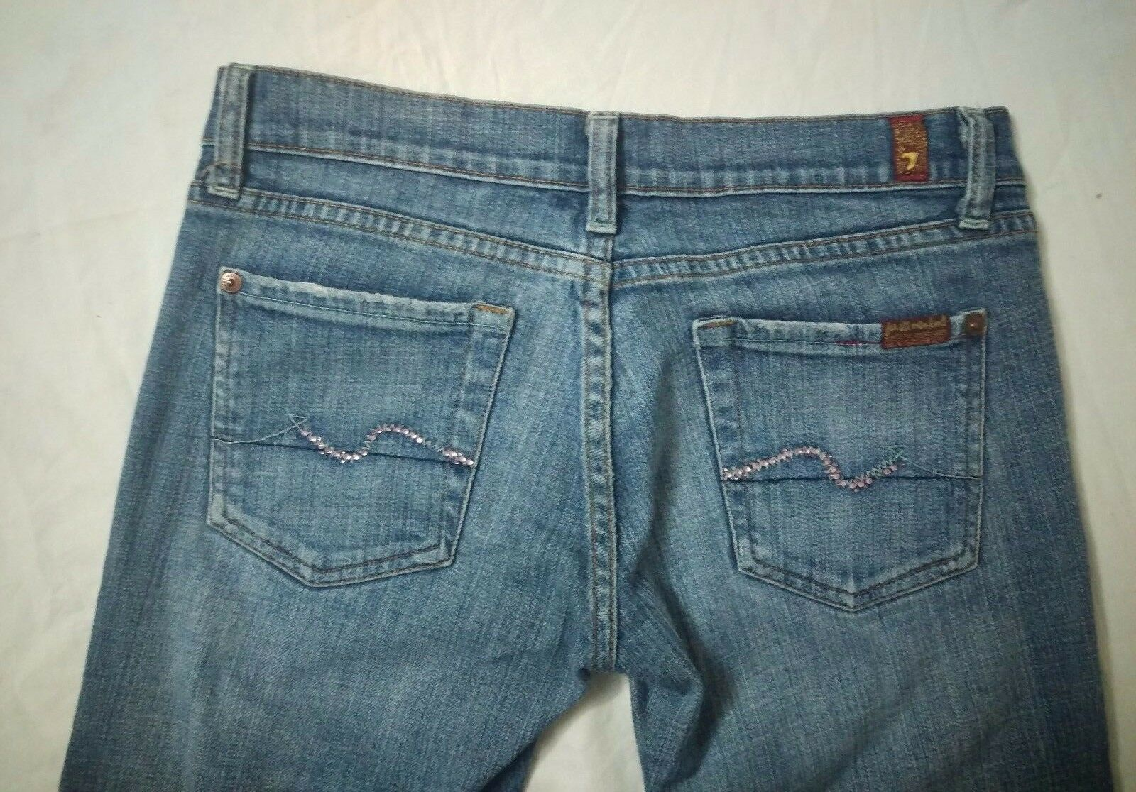 9758c3bcc563 7 for All Mankind Womens Crop Bootcut Jeans Size 27 for sale online ...