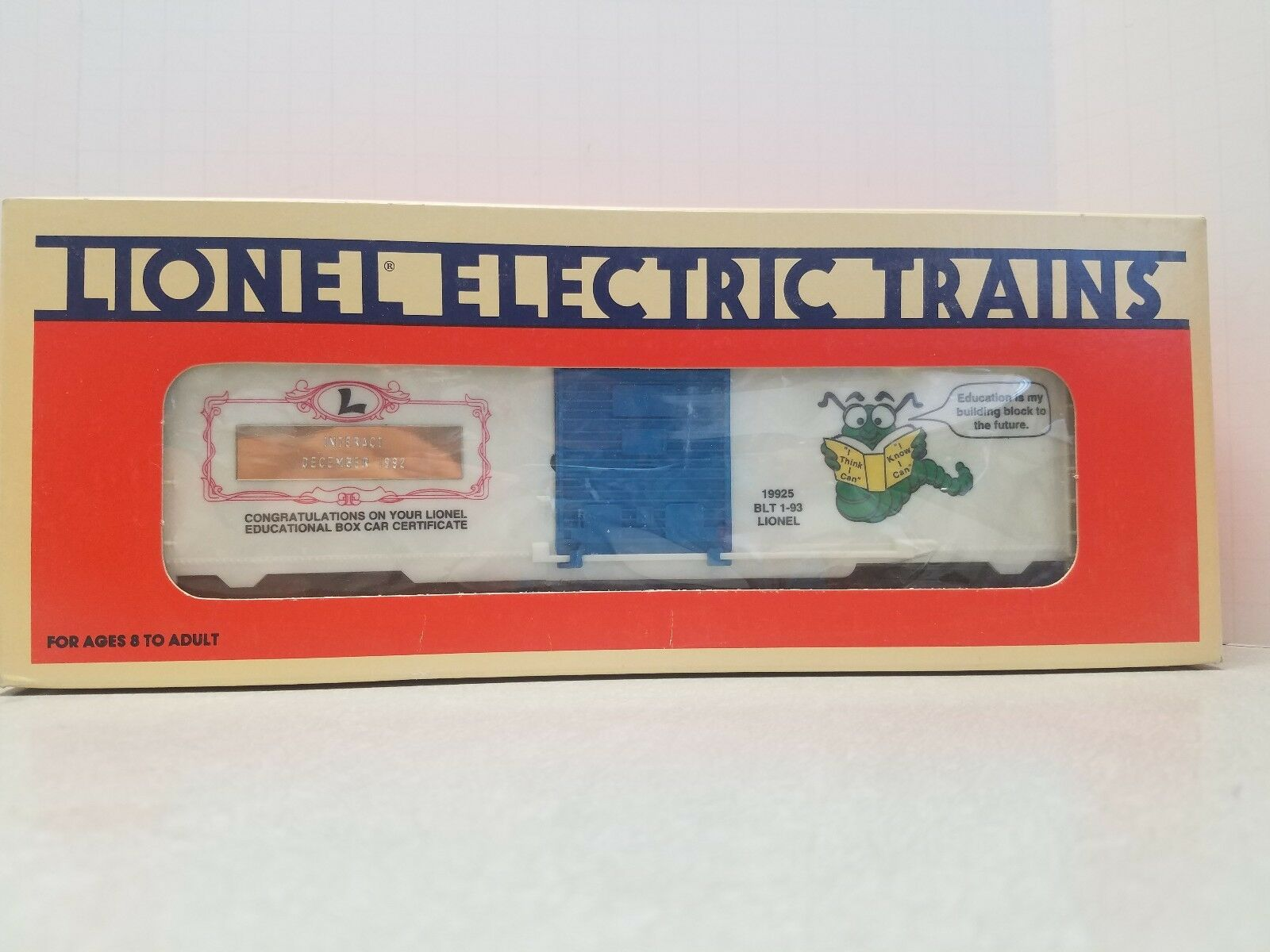 Lionel  19925 Learning Center Box Car - INTERACT VERSION