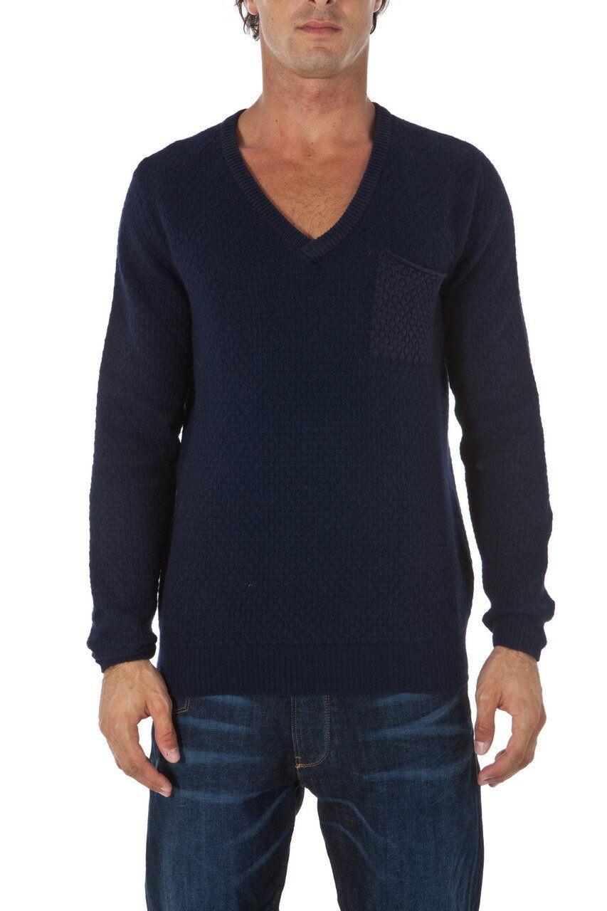 Maglia Maglione Armani Jeans AJ Sweater Pullover REGULAR FIT  Herren Blu U6W09KF 5C