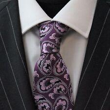 Tie Neck tie with Handkerchief Purple Black & Pink