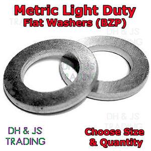 M5 M6 M8 M10 M12 Penny Washers Zinc Plated Multiple Diameter/'s