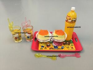 Re-ment dollhouse miniature Hello Kitty pudding orange juice Sanrio licensed