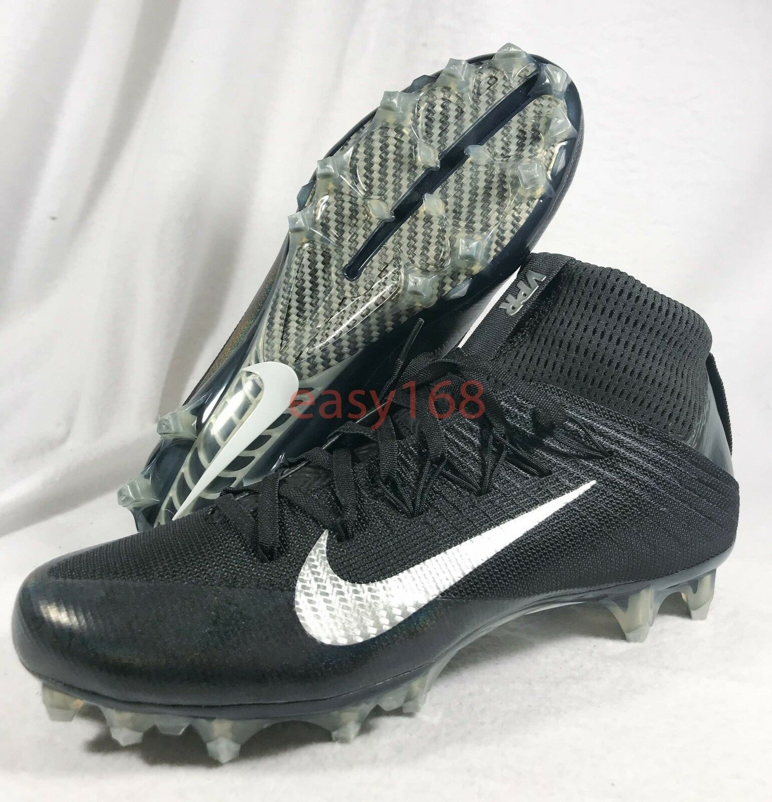 New Vapor Untouchable 2 Sz 9.5 Mens Cleat Boot Football VPR Black 824470-002