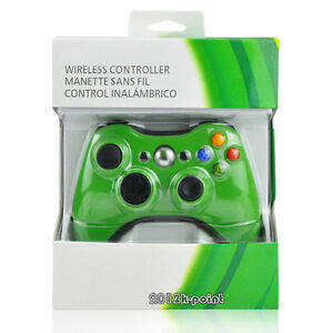 Green-Wireless-Game-Remote-Controller-for-Microsoft-Xbox-360-Brand-New-in-Box