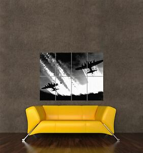 POSTER PRINT WAR PHOTO WWII B17 FLYING FORTRESS BOMBER MISSION EUROPE SEB946