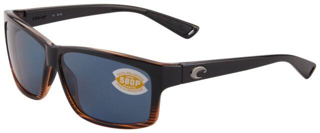 cfcc0436648 Costa Del Mar Cut Sunglasses UT-52-OGP Coconut Fade 580P Grey Polarized Lens