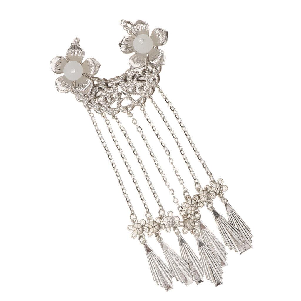 Flower Tassel Ancient Chinese Tassel Headdress Hair Pin Dress Alligator Clip