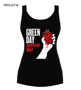 Official-Ladies-T-Shirt-Vest-Top-GREEN-DAY-American-Idiot-All-Sizes