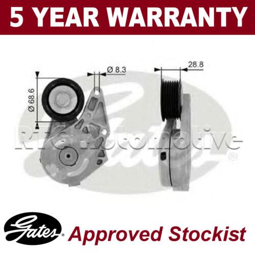 Gates V-Ribbed Belt Tensioner Pulley For Ford VW T38175