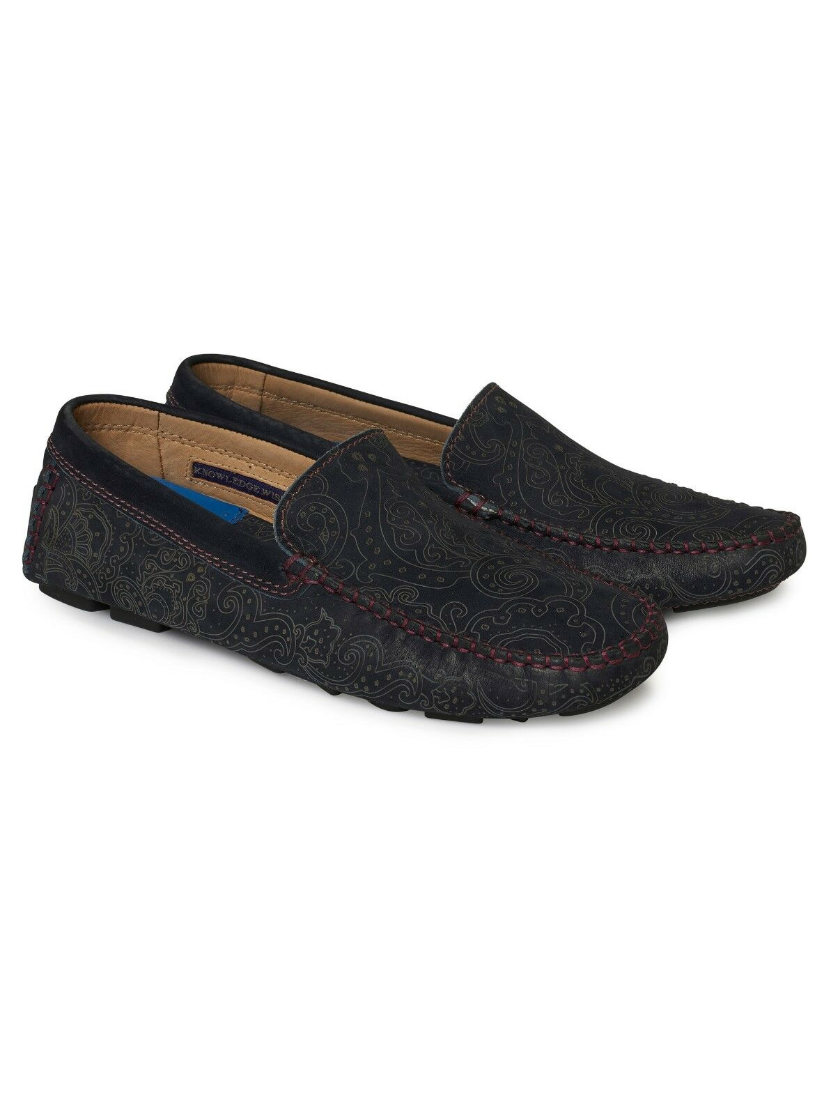 ROBERT GRAHAM MEN'S VERRAZANO LEATHER DRIVING MOCCASIN LOAFER  NWT