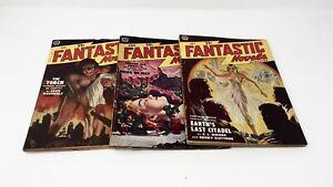 FANTASTIC-NOVELS-PULPS-1950-1951-LOT-OF-9-VIRGIL-FINLAY-LOVECRAFT-CUMMINGS