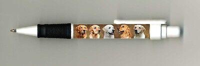 Golden Retriever Dog Design Retractable Acrylic Ball Pen by paws2print