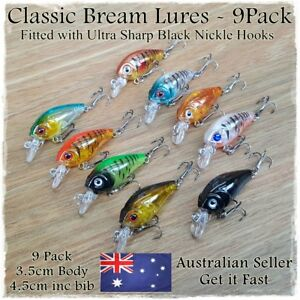 9-Fishing-Lures-Bream-Bass-Trout-Redfin-Perch-Cod-Flathead-Whiting-Tackle-4-5cm