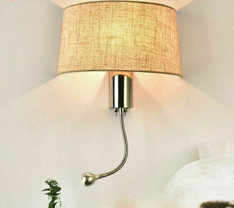 Wall Sconce Lamp Shade Home Bedroom Stairs Light Incandescent Bulb Wall-mounted