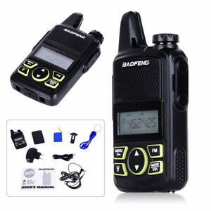 1-10-X-BAOFENG-BF-T1-walkie-talkie-with-earpiece-FM-Radio-UHF-400-470MHZ-ham-GB