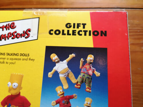 The Simpsons Gift Collection Box 1998 Exclusive Homer Badge New from Old Stock