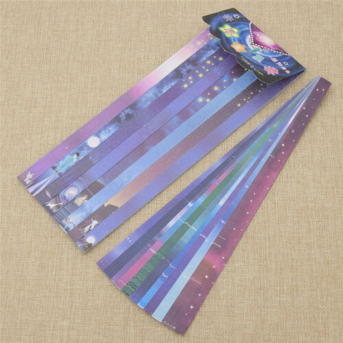 160 Strips DIY Origami Paper Star Folding Kit Lucky Wishes Hand Crafts Decoratif