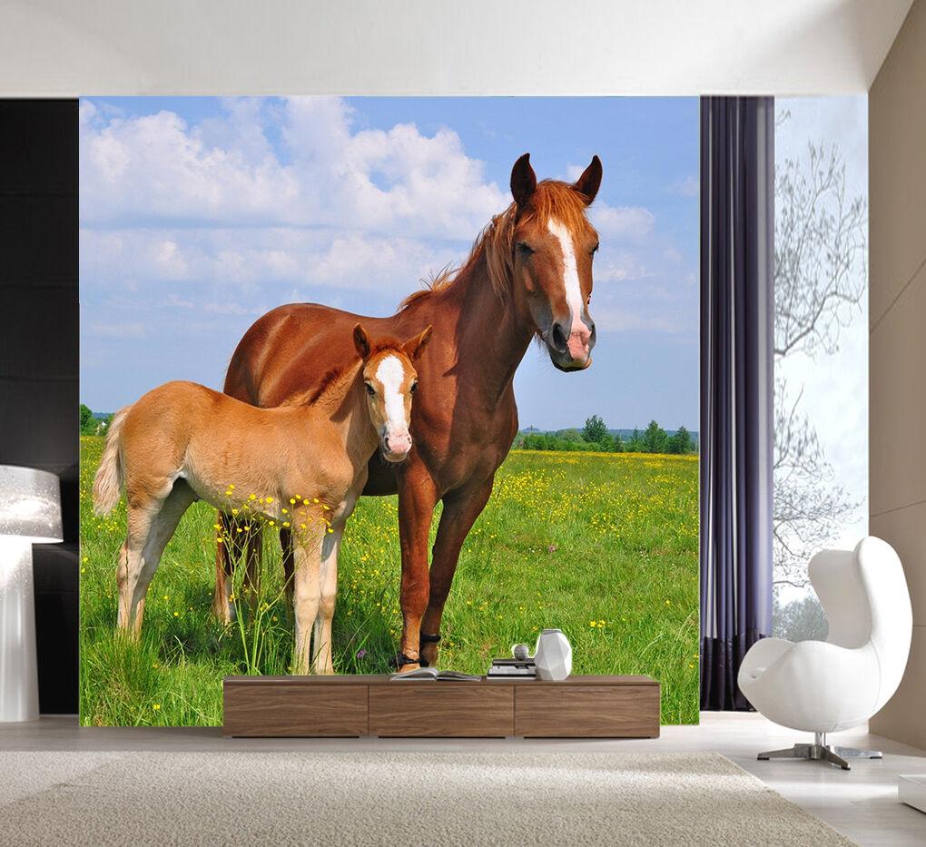 3D Grassland Horses 2232 Paper Wall Print Wall Decal Wall Deco Indoor Murals
