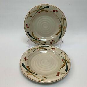 Home-Salad-Plates-Leaves-Olives-9-3-8-Lot-of-2