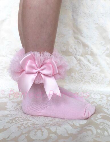 ESPAGNOL//romany tutu Socquettes Double Bow bébé//fille Cadeau été fête