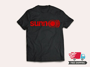 New-Sunn-O-Band-Men-039-s-Black-T-Shirt-Red-Logo-Metal-Rock-Band-Size-S-5XL