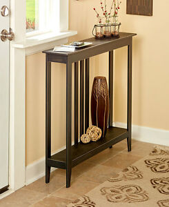 Slim-Space-Saver-Accent-Table-Wooden-Narrow-Hallway-Entry-Sofa-Storage-3-COLORS