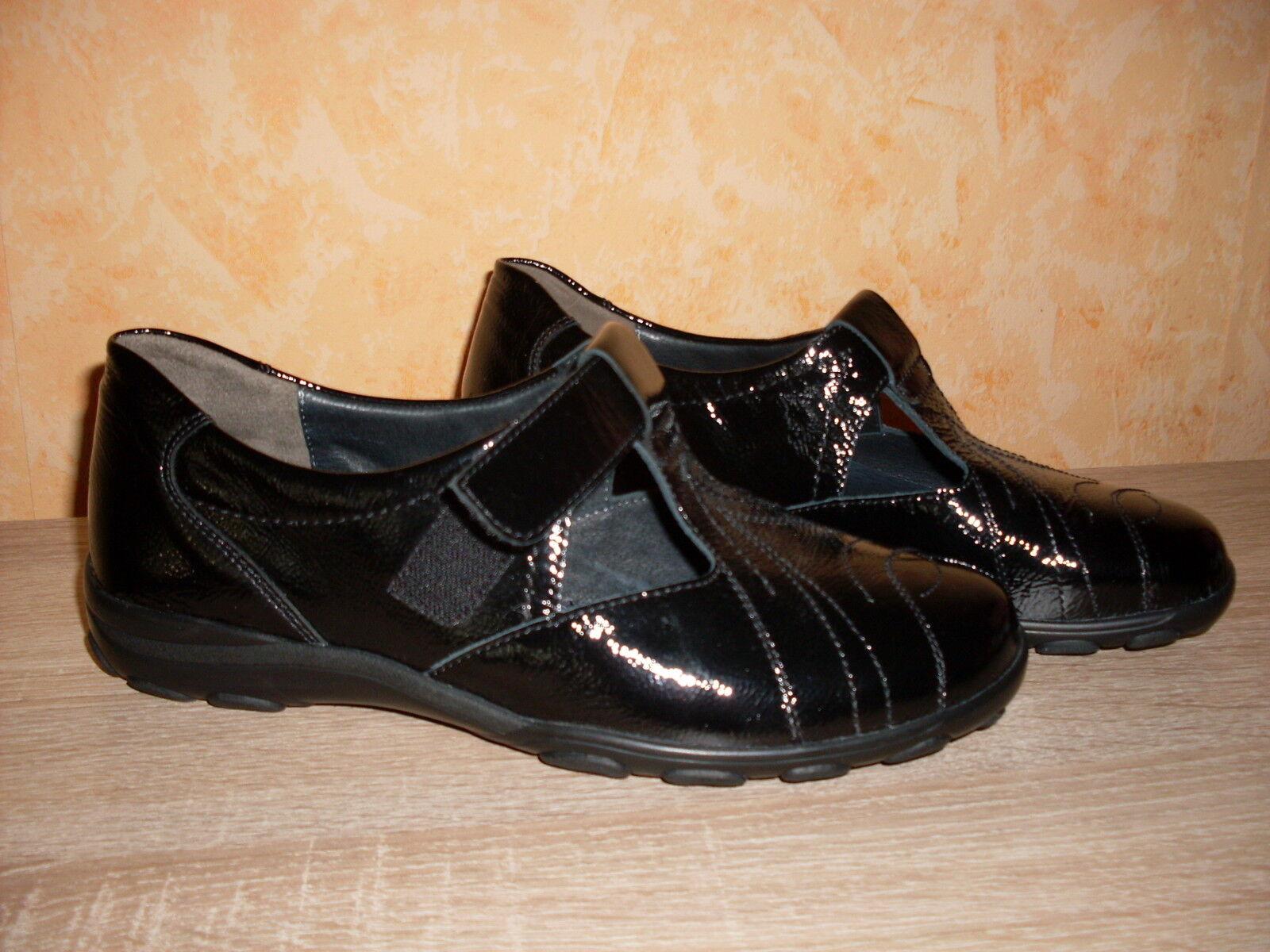Los últimos zapatos de descuento para hombres y mujeres Descuento por tiempo limitado SEMLER Klettflat / Slipper NEU Gr. 37 oder 41,5 H schwarz Lackleder sehr bequem