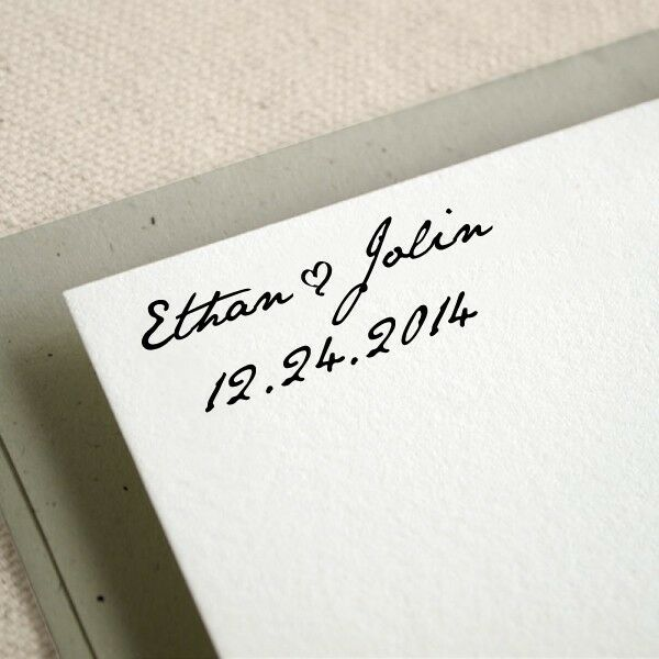 Personalized Custom Handle Wedding Invitation Greeting Card Rubber Stamp RE599