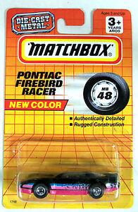 Vintage Matchbox Cars 1993 Matchbox Mb48 Pontiac Firebird Racer Ebay