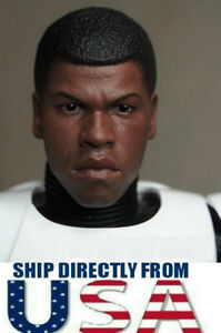 "1//6 CUSTOM Finn John Boyega Head Sculpt For Star Wars 12/"" Hot Toys Figure ❶USA❶"