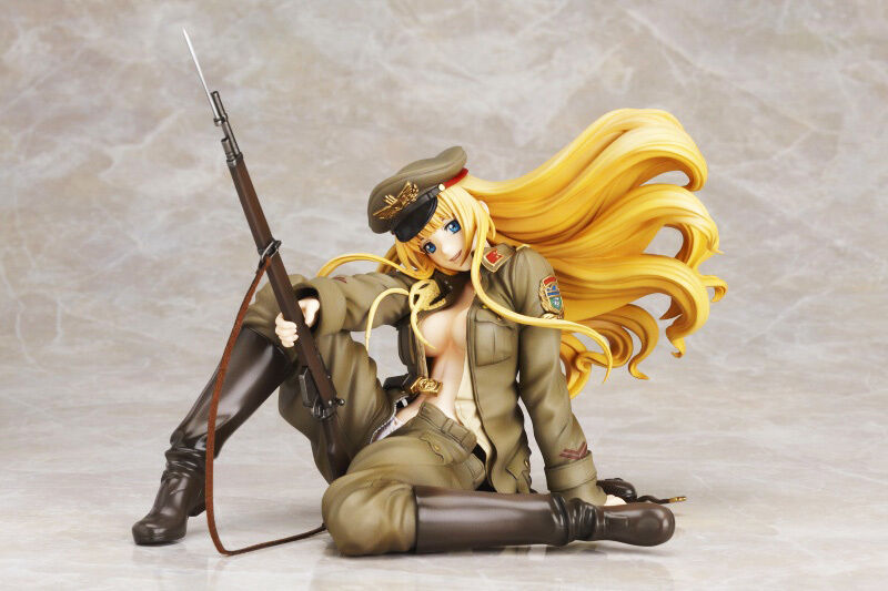 Elfriede Blond Army Military Girl 1 7 Unpainted Figure Model Resin Kit