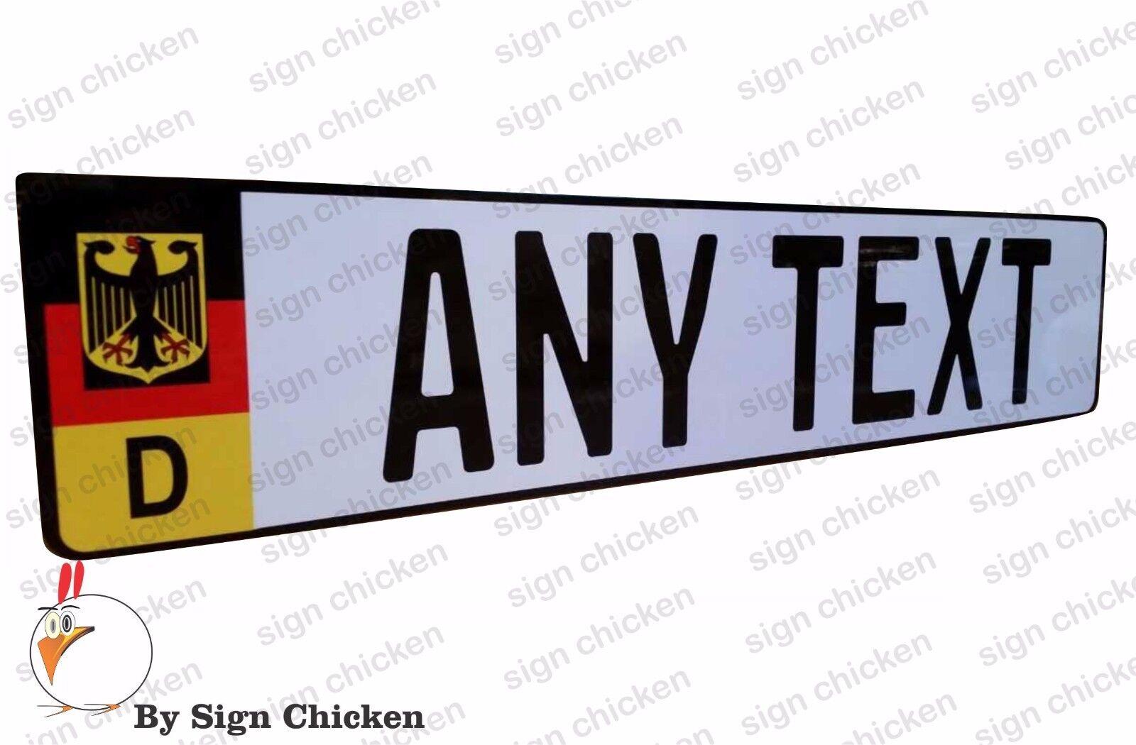 ANY TEXT EURO STYLE  TAG BMW  European license plate PUERTO RICO FLAG