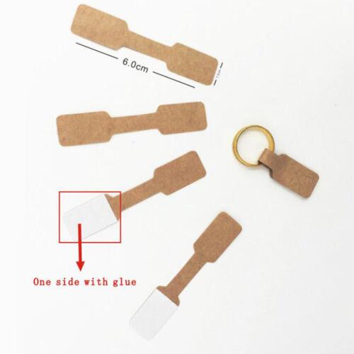 100PCS Blank Kraftpapier Schmuck Halskette Armband Display Hängekarten
