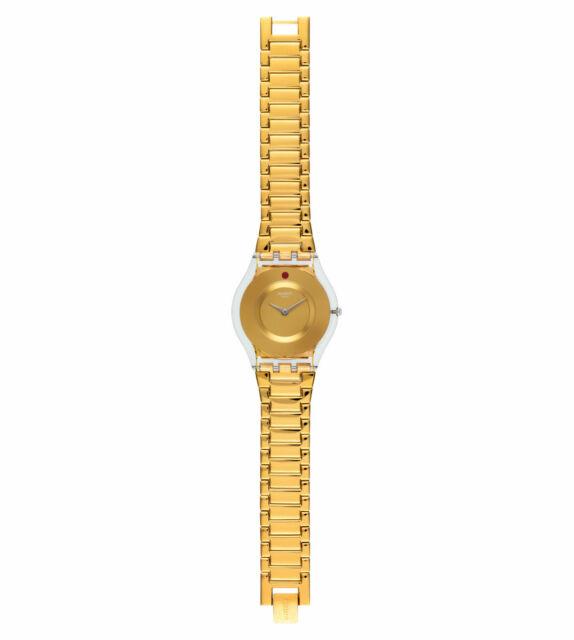 NEW Swatch Women's SFK399G Punto Rosso Gold Watch - MRRP $195