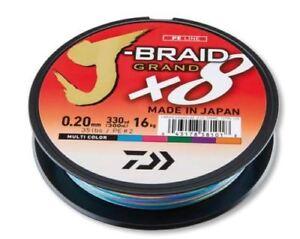 Daiwa-J-Braid-Grandiose-X8-Fil-150m-300m-Multicolore-Toutes-les-Tailles